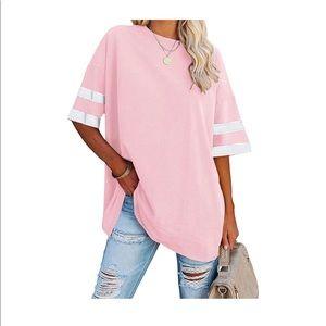 Oversized Women's Tee Crew Neck T-Shirt Size Large